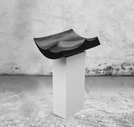 BlackGeometricSculpture