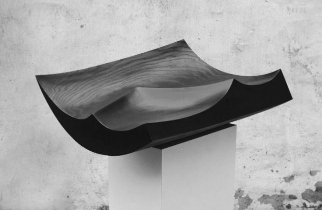 BlackGeometricSculpture_detail